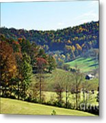 Log Cabin In The Mountains Metal Print