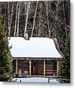 Log Cabin  Metal Print
