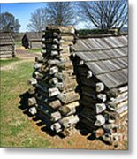 Log Cabins At Valley Forge Metal Print