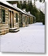 Log Cabins In Fort Wilkins Metal Print