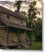 Log House Dusk Metal Print