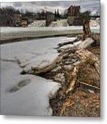 Log On Otter Creek Metal Print