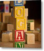 Logan - Alphabet Blocks Metal Print