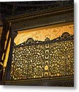 Loge Of The Sultan In Hagia Sophia  Metal Print