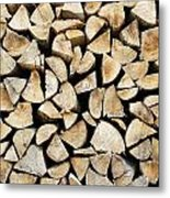 Logs Background Metal Print
