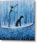 Lola In The Water Metal Print by Ned Shuchter