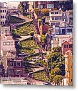 Lombard Street. Metal Print