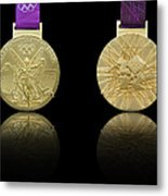 London 2012 Olympics Gold Medal Design Metal Print