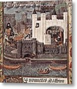 London And The Thames 15th C.. Gothic Metal Print by Everett