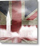 London Big Ben Abstract Metal Print