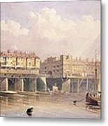 London Bridge, 1835 Metal Print