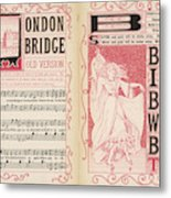 London Bridge Is Broken Down! Dance Metal Print