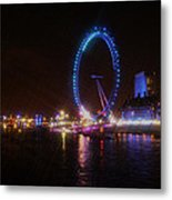 London Eye Art Metal Print