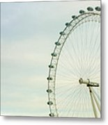 London Eye Closeup Metal Print
