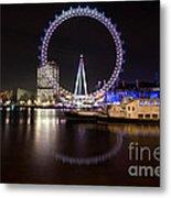 London Eye Night Metal Print