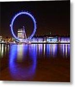 London Eye Reflections Metal Print