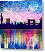 London In Blue  Metal Print