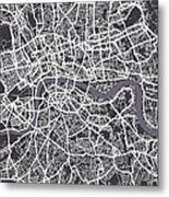 London Map Art Metal Print