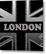 London Modern Union Jack Flag Metal Print