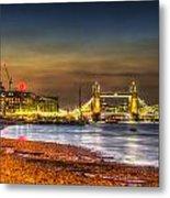 London Night View Metal Print
