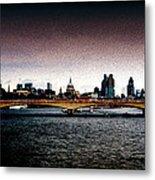 London Over The Waterloo Bridge Metal Print