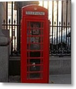 London Phone Booth Metal Print