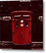 London Post Box Metal Print