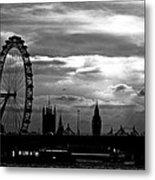 London Silhouette Metal Print