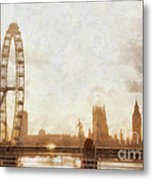 London Skyline At Dusk 01 Metal Print