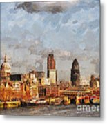 London Skyline From The River  Metal Print