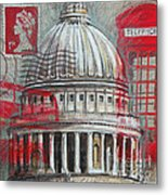London St Paul's Dome Metal Print