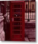 London Telephone Metal Print