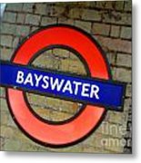 London Tube Metal Print