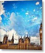 London Uk Big Ben The Palace Of Westminster Metal Print