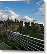London Underground And The Tower Of London Metal Print