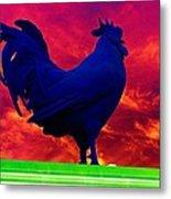 London's Blue Rooster  Metal Print