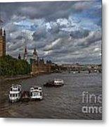 London's Thames River Metal Print