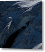 Lone Alpinist Silhouetted On Heavily Metal Print