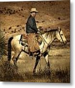 Lone Cowboy Metal Print