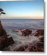 Lone Cyprus Pebble Beach Metal Print