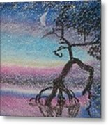 Lone Dancer By Moonlight  Metal Print