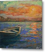 Lone Dinghy Metal Print