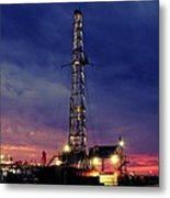 Lone Giant With Blue Sky Metal Print