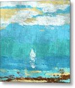 Lone Sail Metal Print