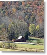 Lonely Barn In The Cove Metal Print