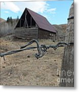 Lonely Barn Metal Print by Marcus Maiden