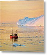 Lonely Boat - Greenland Metal Print