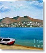 Lonely Boat Metal Print by Kostas Koutsoukanidis