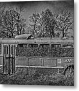 Lonely Bus  Metal Print