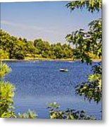 Lonely Canoe Metal Print